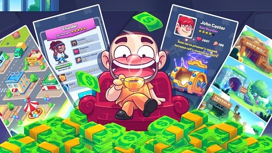 Скриншот Idle Prison Tycoon: Gold Miner Clicker Game