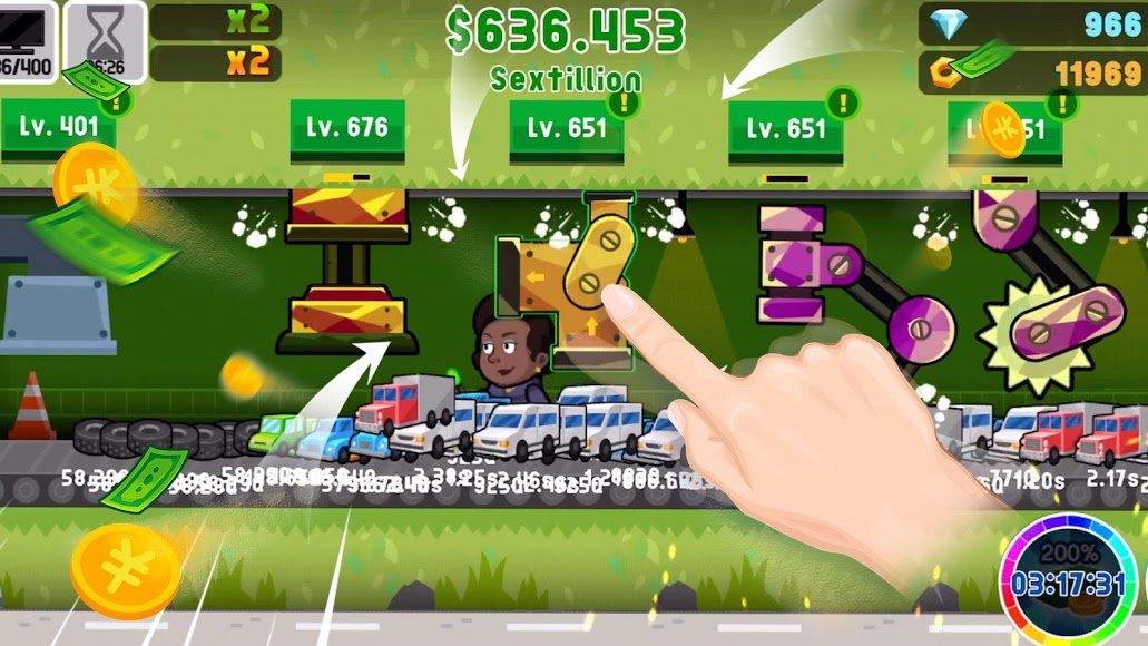 скачать взломанную игру factory inc мод много денег