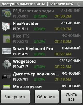 ES TaskManager - отличный Диспетчер задач