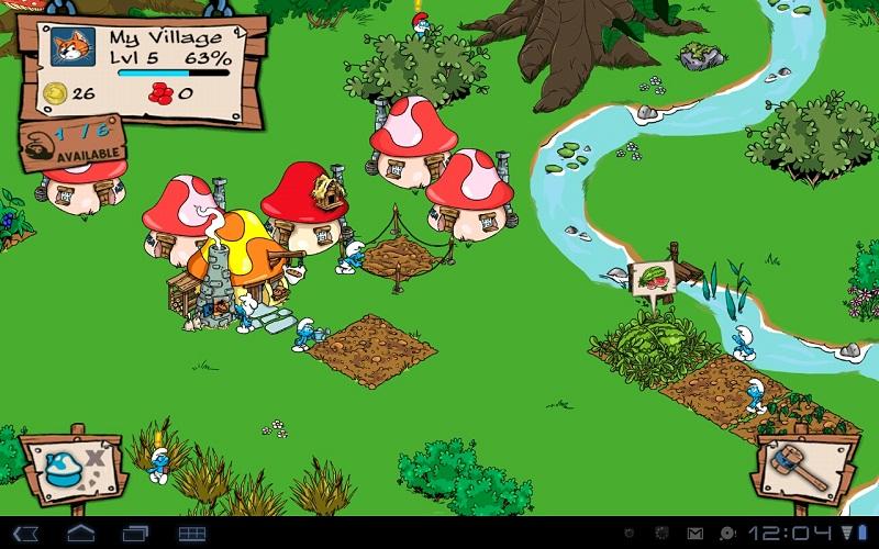 """Игра """"Smurfs' Village"""" для планшетов на Android"""