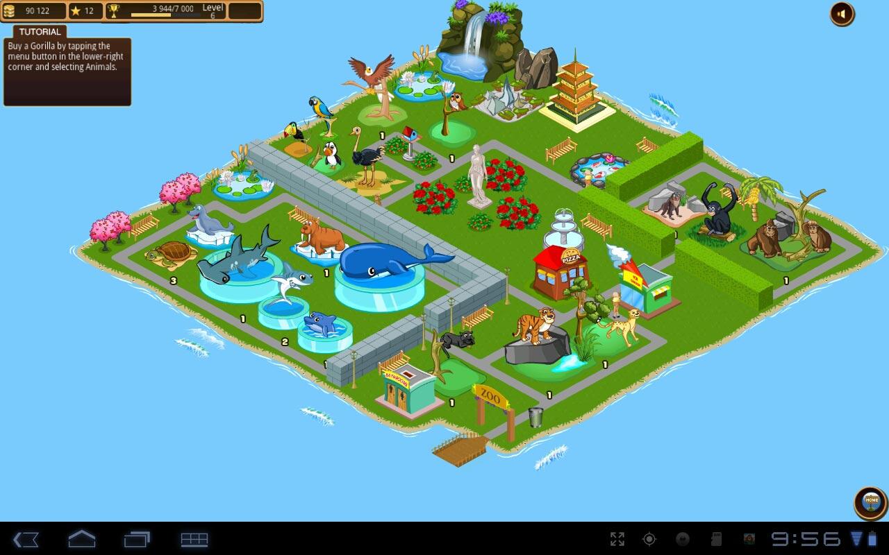 "Игра ""Tap Zoo"" для планшетов на Android"