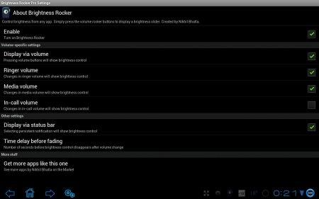 Brightness Rocker Pro версия 1.2