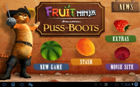 Fruit Ninja: Puss in Boots (обновлено до версии 1.0.4)