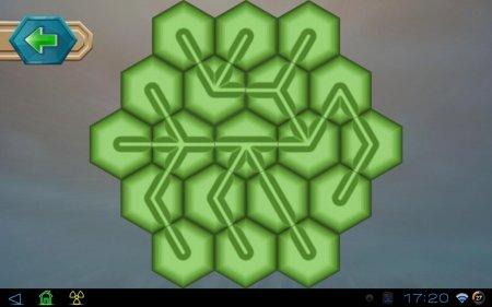 Головоломка Hexagon Unlim для планшетов на Android