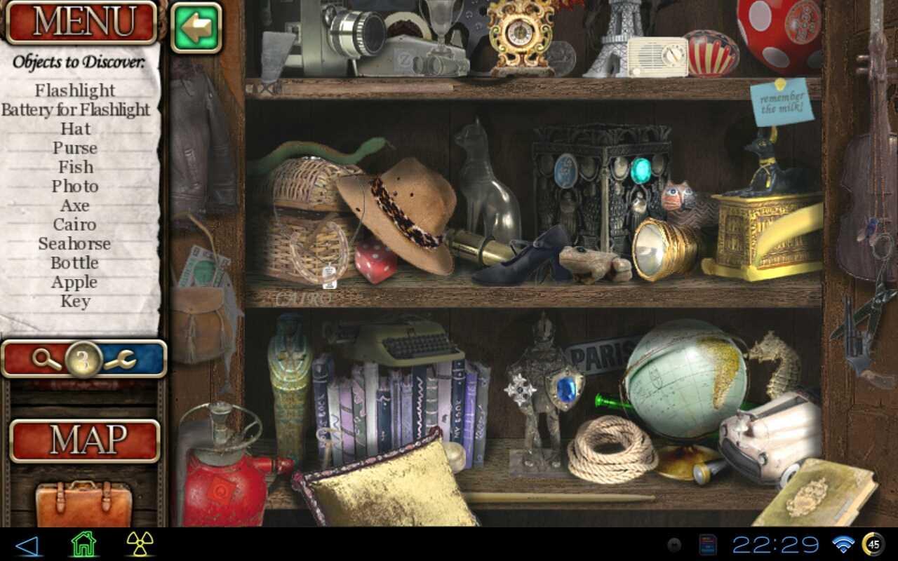 android поиск предметов