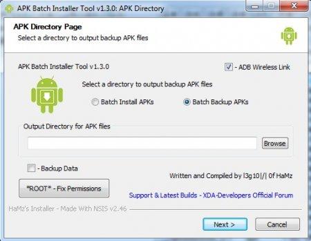 APK Batch Installer Tool: резервное копирование и восстановление с использованием WiFi и ПК (требуется ROOT)