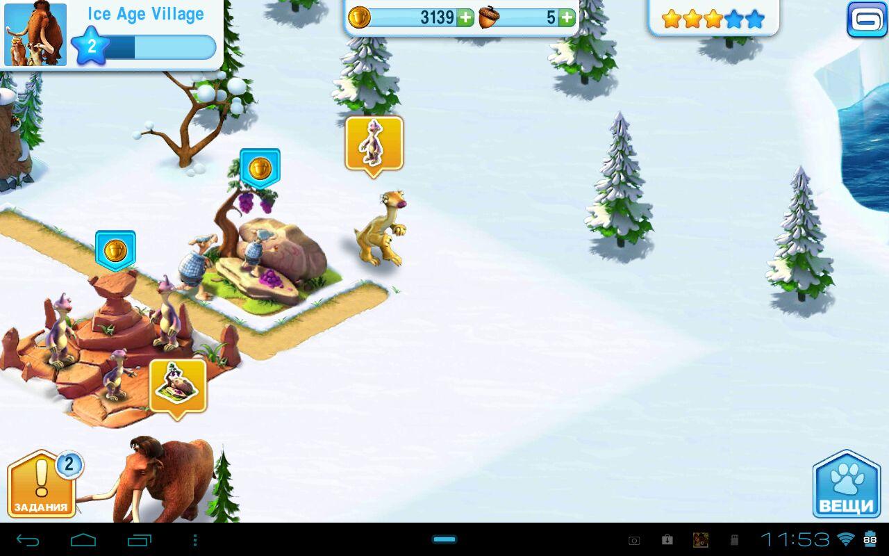 Игра Ice Age Village для планшетов на Android