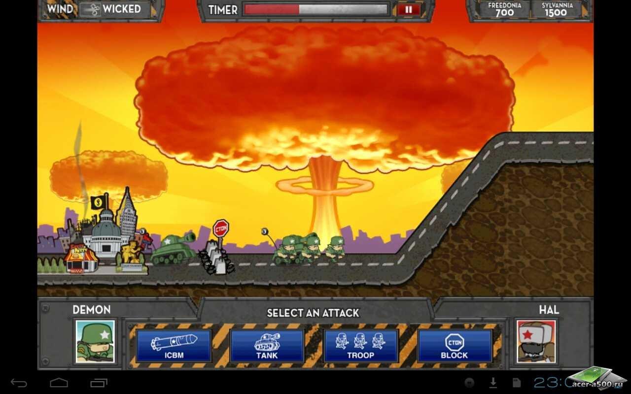 """Игра """"iSiege: Nuclear Option"""" для планшетов на Android"""