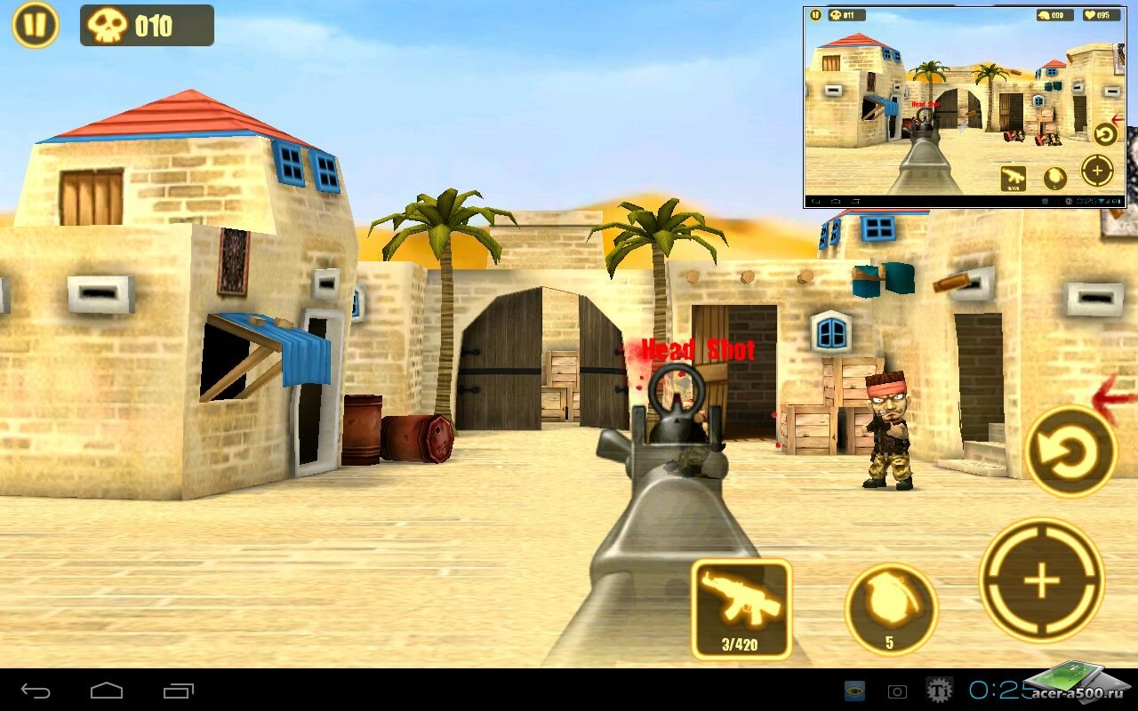 "Игра ""Gun Strike"" для планшетов на Android"