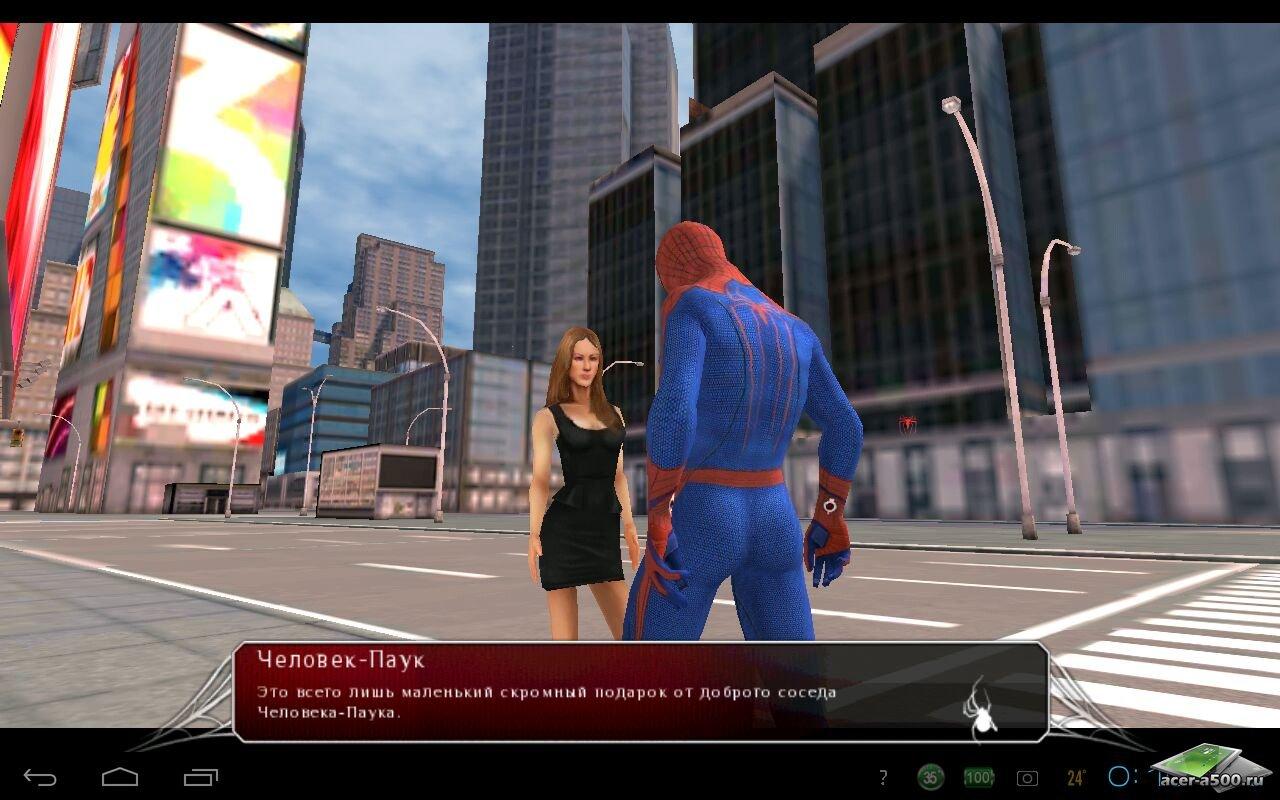 Скачать игру удивительный человек паук на андроид