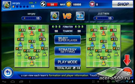 Soccer Superstars 2012 (обновлено до версии 1.1.1)