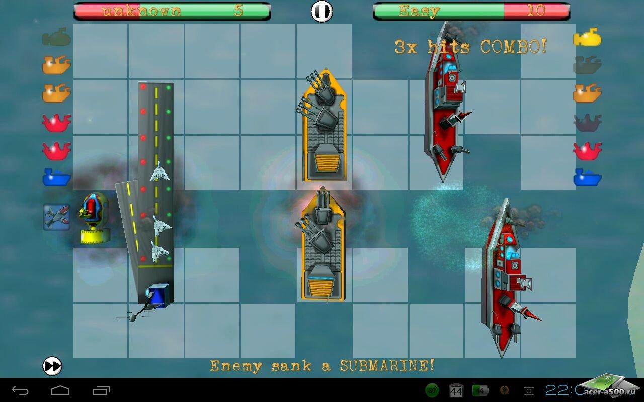 """Игра """"Ships N' Battles"""" для планшетов на Android"""