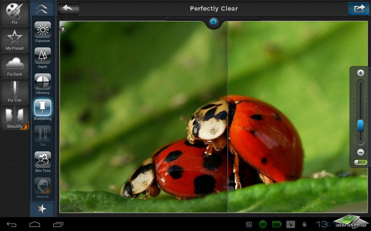 "Фоторедактор ""Perfectly Clear"" для планшетов на Android"