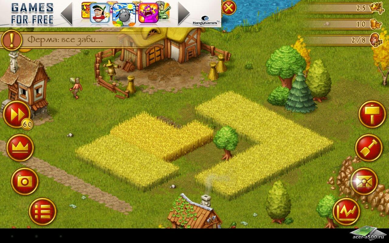 "Игра ""Townsmen"" для планшетов на Android"