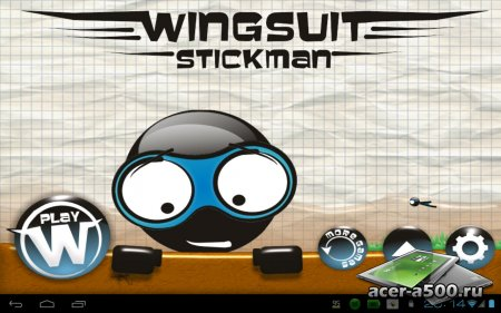 Wingsuit Stickman (обновлено до версии 1.4)