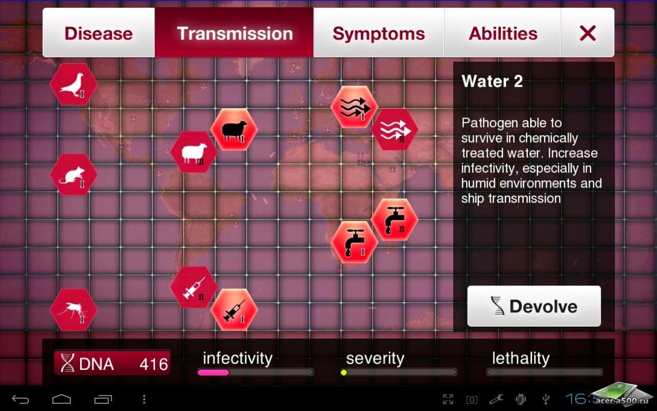 """Игра """"Plague Inc."""" для планшетов на Android"""