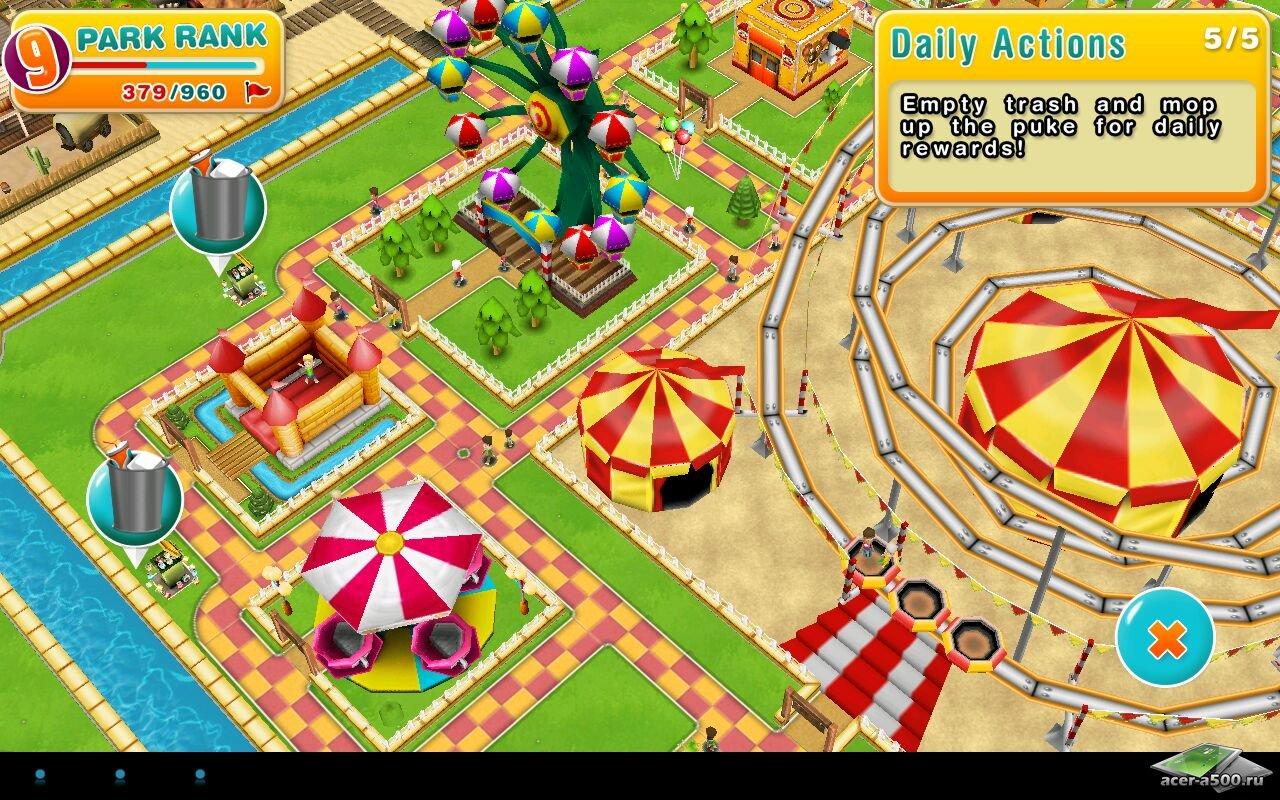 "Игра ""Theme Park"" для планшетов на Android"