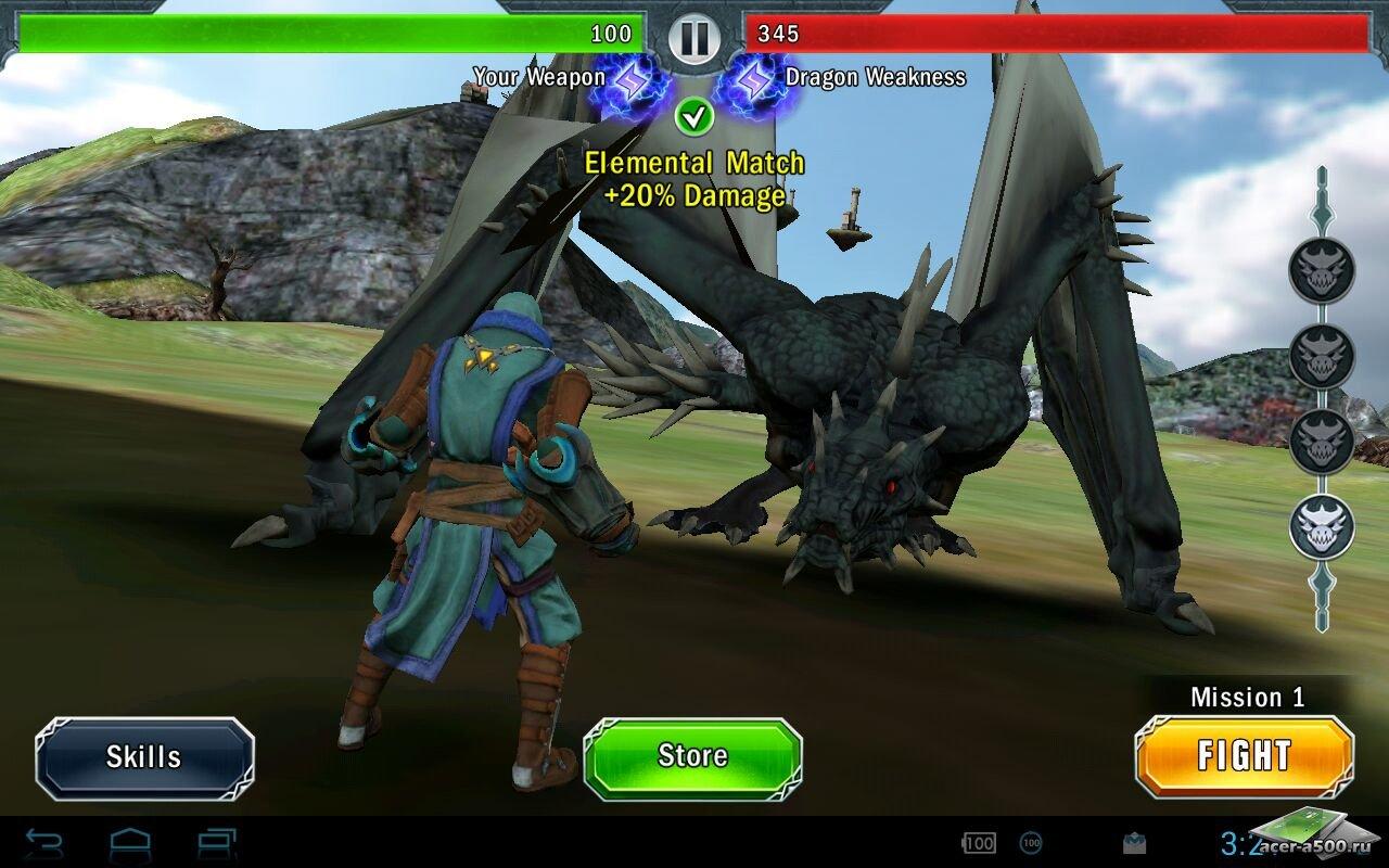"Игра ""Dragon slayer"" для планшетов на Android"