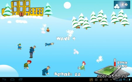 Играем в снежки HD (SnowBall Fight Winter Game HD) версия 1.2.1