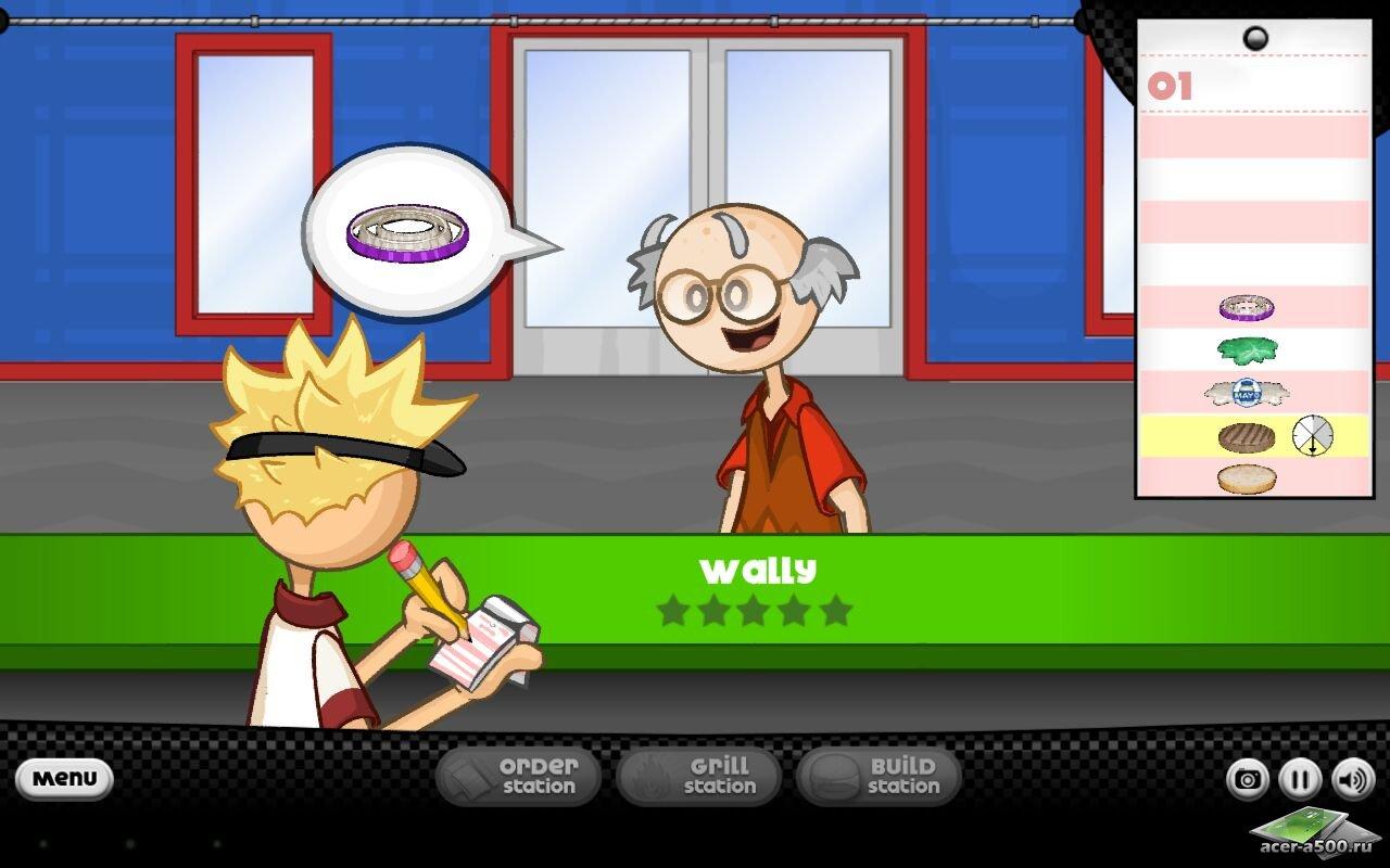 "Игра ""Papa's Burgeria"" для планшетов на Android"