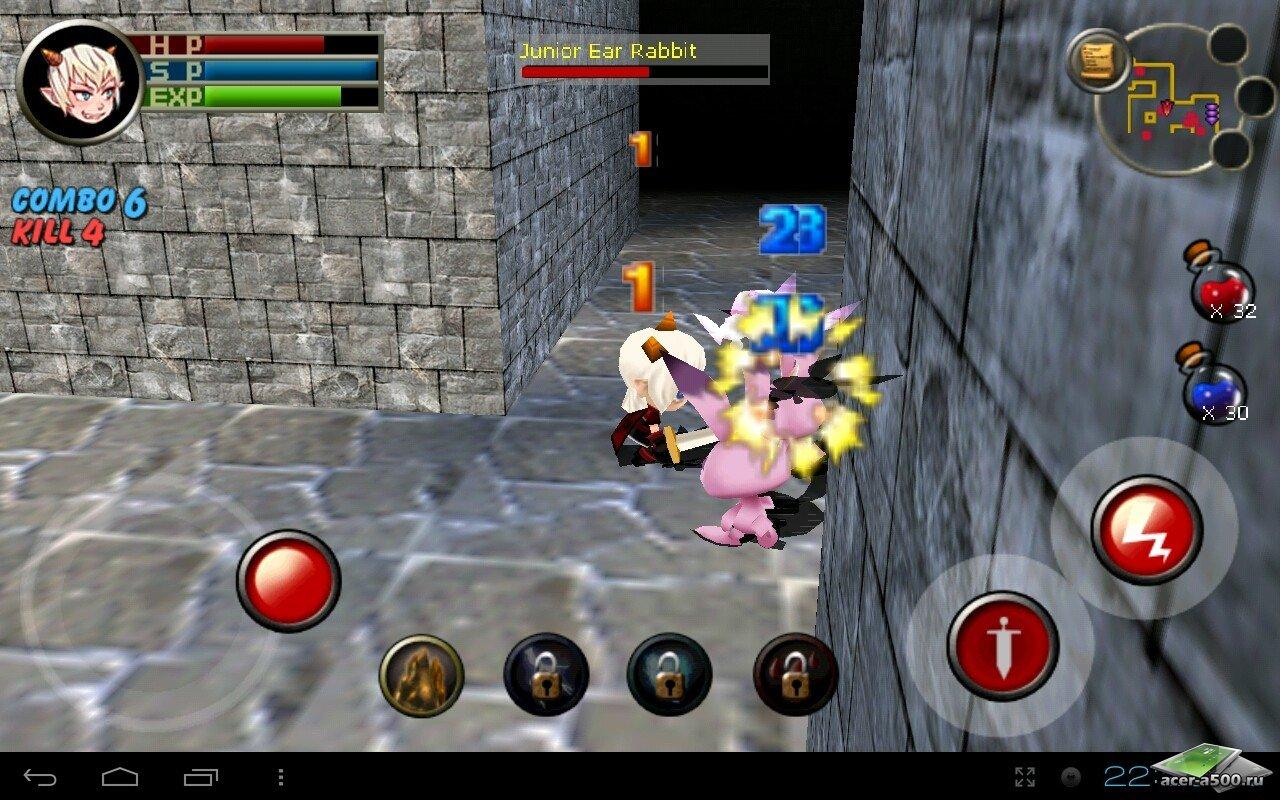 "Игра ""3D RPG Dungeon&Knight Plus"" для планшетов на Android"