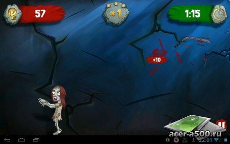 Zombie Swipeout Free версия 1.1.0.6