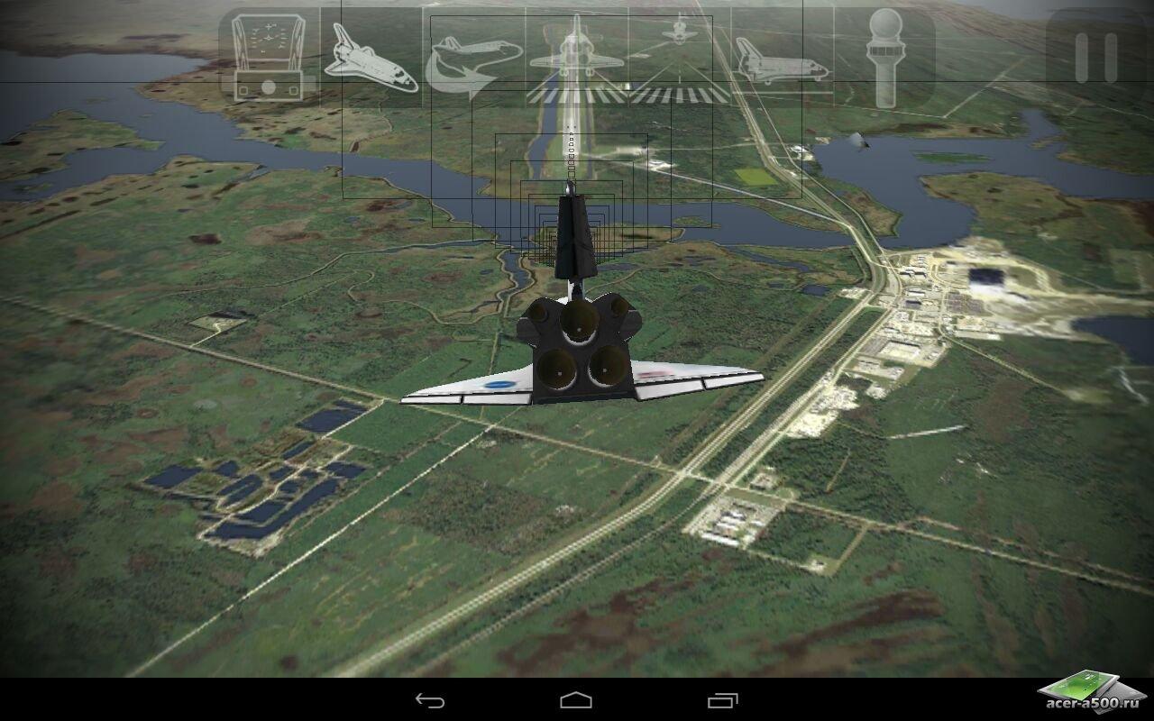 """Игра """"F-Sim Space Shuttle"""" для планшетов на Android"""