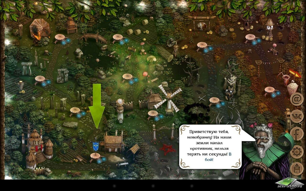 """Игра """"First Wood War"""" для планшетов на Android"""