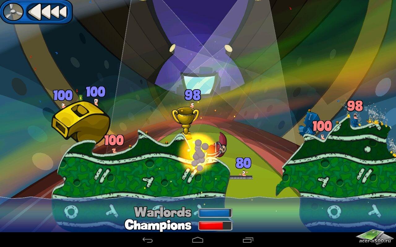"""Игра """"Worms 2: Armageddon"""" для планшетов на Android"""