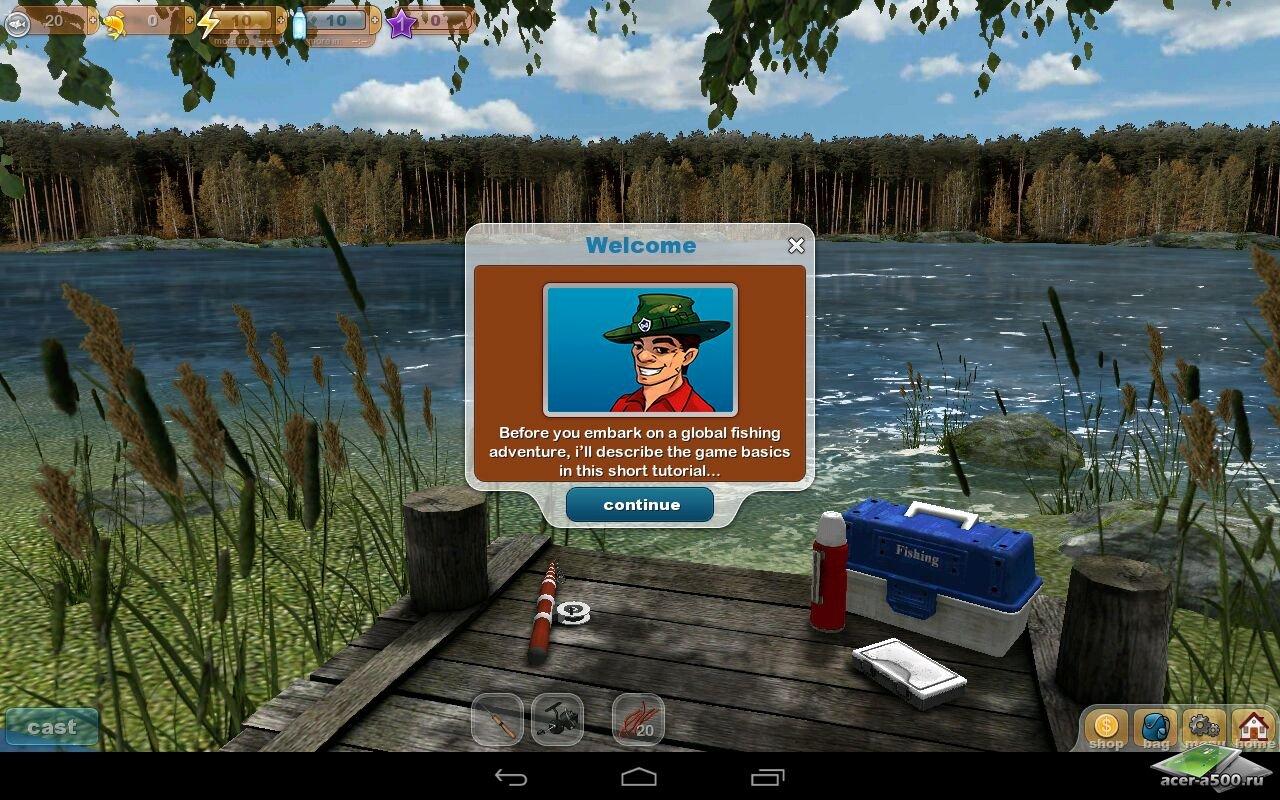 рыбалка на планшет видео