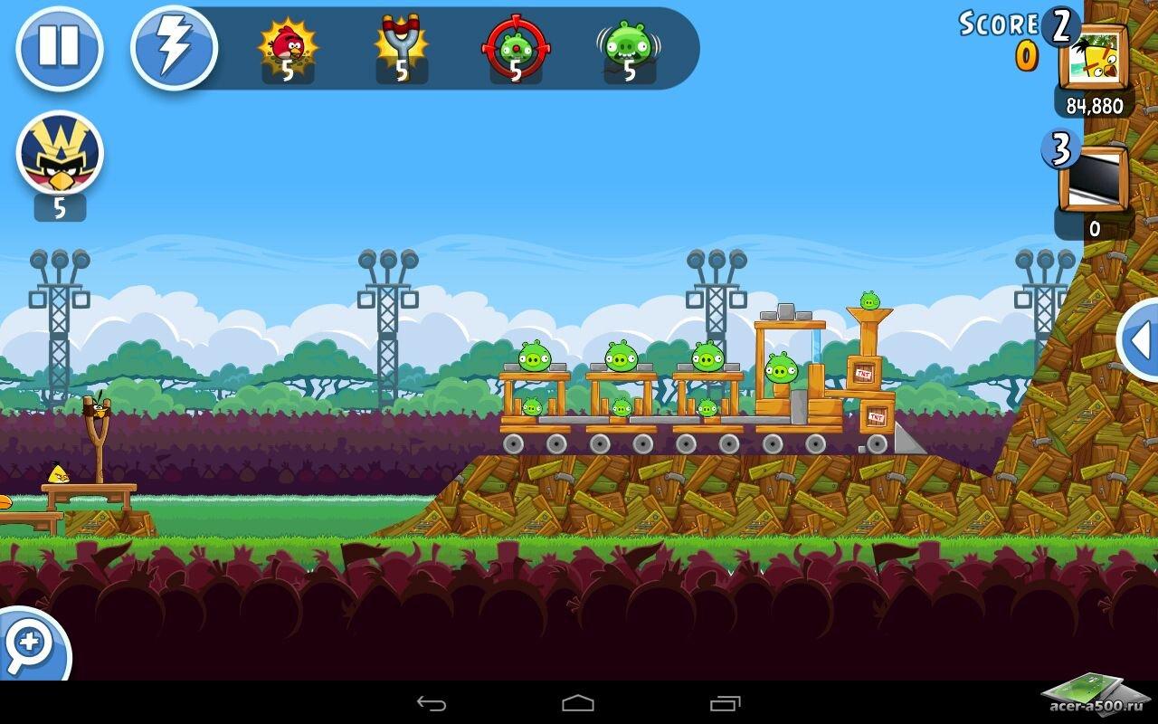 Злые Птички Вперёд на андроид скачать бесплатно. Игра Angry Birds Go для android для телефонов и планшетов.
