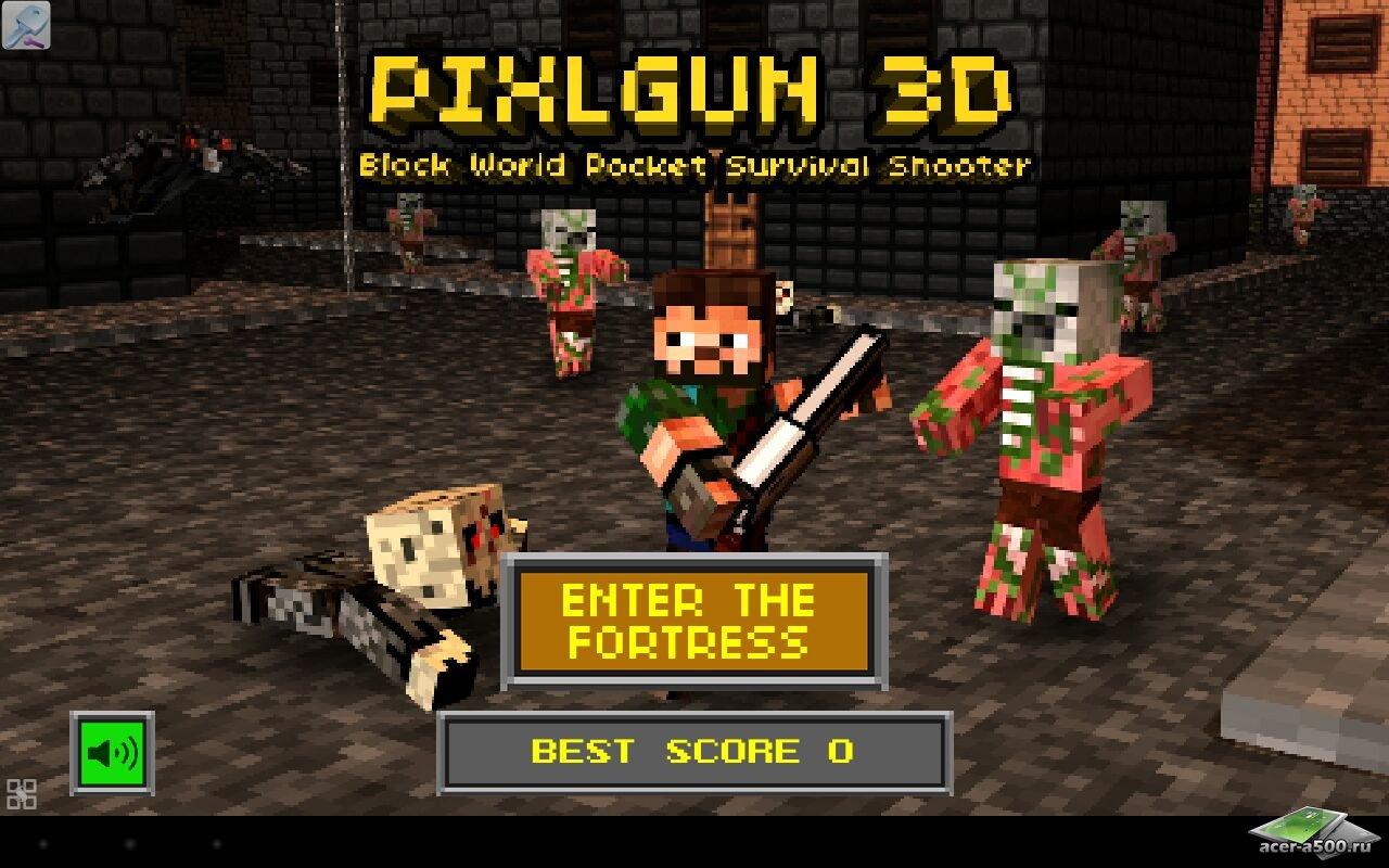 Бесплатно block clans pixel world gun на андроид