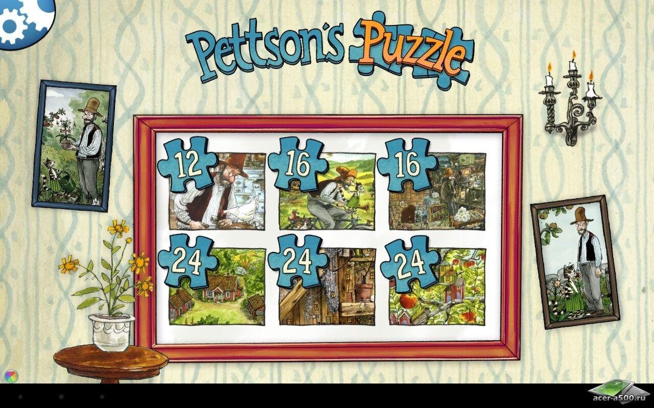 "Игра ""Pettson's Jigsaw Puzzle"" для планшетов на Android"