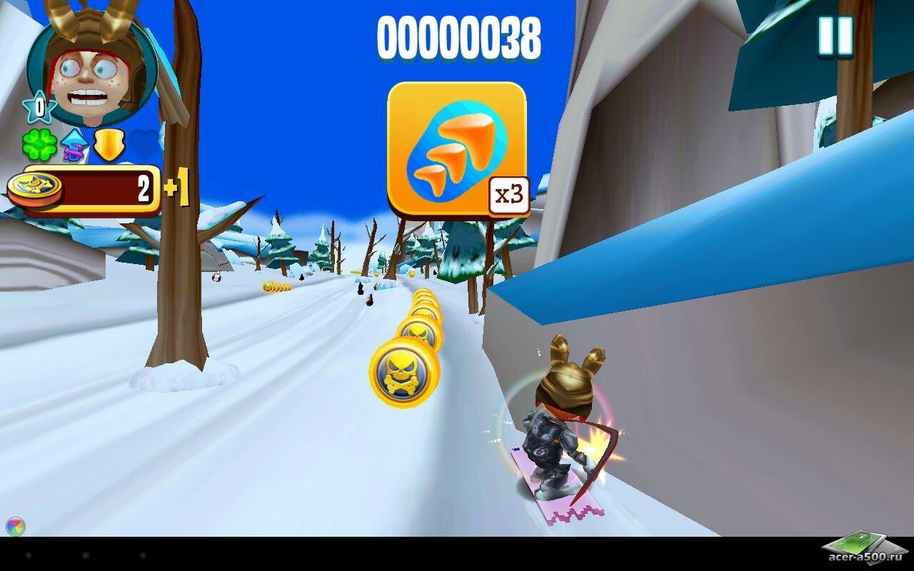 "Игра ""Skiing Fred"" для планшетов на Android"