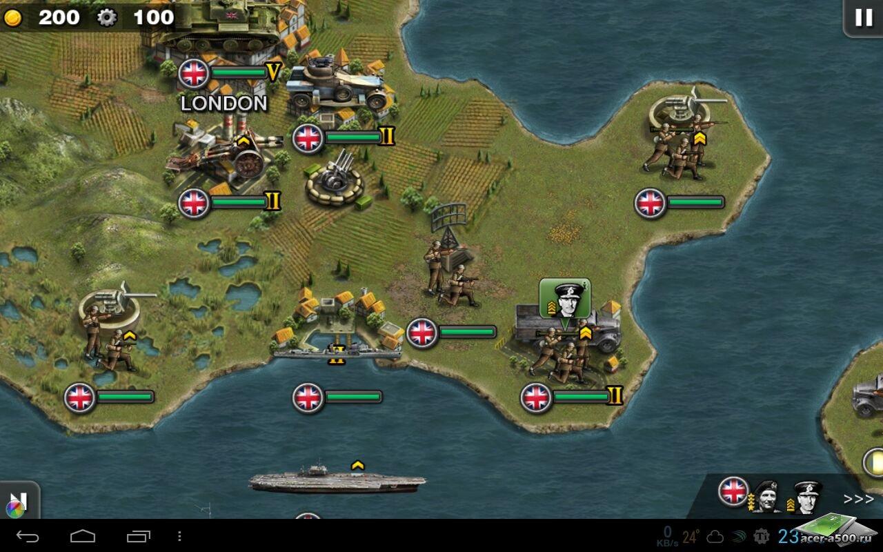 """Игра """"Glory of Generals HD"""" для планшетов на Android"""