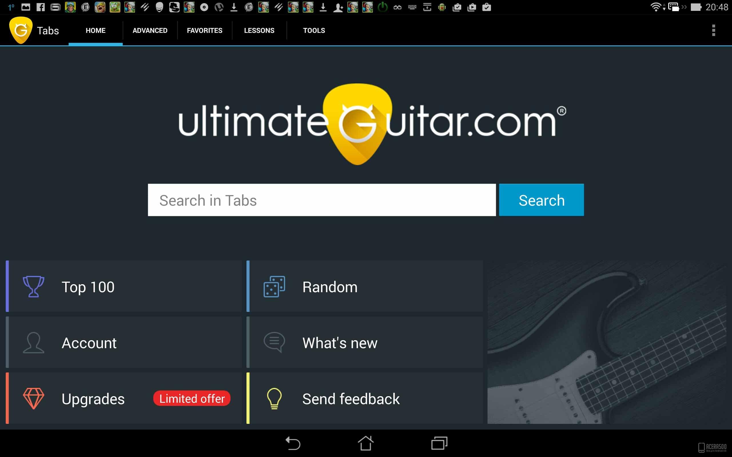 Ultimate Guitar Tabs Top 100